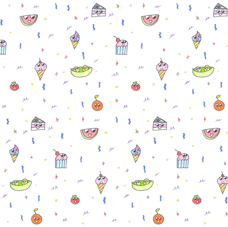 happyfood :) fabric by eloiseart on Spoonflower - custom fabric