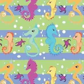 TRINITY CHERNOFF Seahorse Stripe