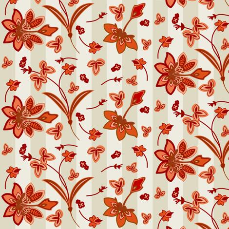 Floral Fun Striped fabric by lowa84 on Spoonflower - custom fabric