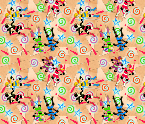 © 2011 Rollerderby fabric by glimmericks on Spoonflower - custom fabric