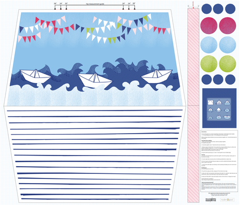 Ahoy Skirt child size 4-7 fabric by designcamp on Spoonflower - custom fabric