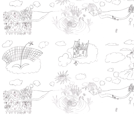Land of the Swan fabric by theflowerwall on Spoonflower - custom fabric