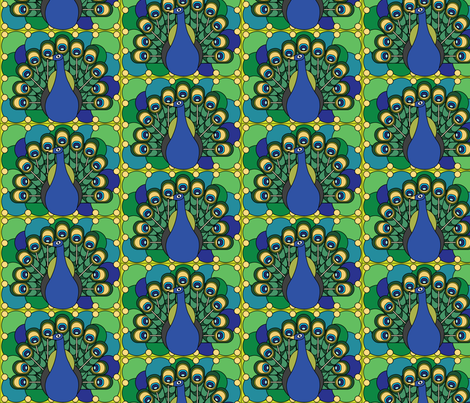 peacock2analogous fabric by maryerin on Spoonflower - custom fabric
