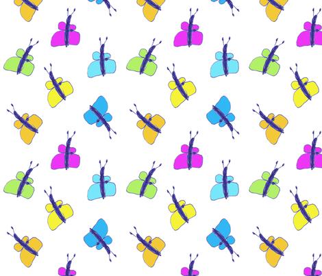 Kid Butterflies fabric by jenimp on Spoonflower - custom fabric