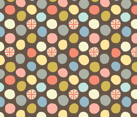 rainy london dot fabric by amel24 on Spoonflower - custom fabric