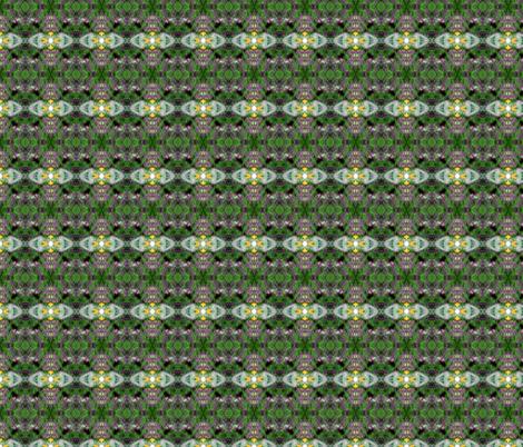 Lilac tree and a rhubarb leaves kaleidoscope fabric by vinkeli on Spoonflower - custom fabric