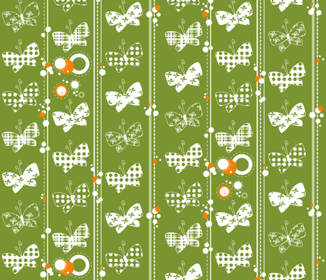 Mariposas - limited colour palette fabric by catru on Spoonflower - custom fabric