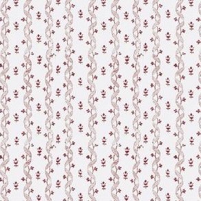1810 roller print cherry red