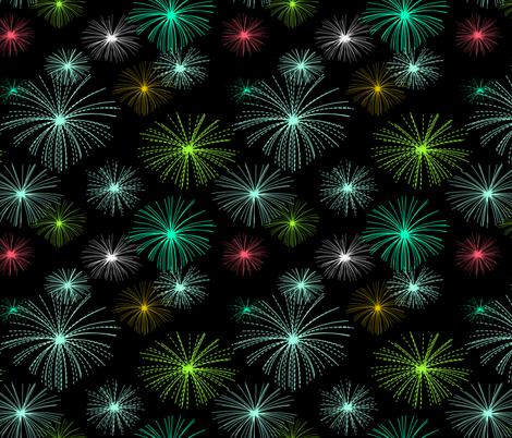 fireworks fabric by ravynka on Spoonflower - custom fabric