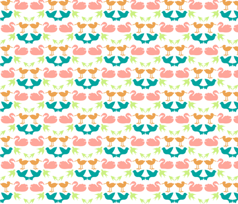 bird square fabric by mrshervi on Spoonflower - custom fabric
