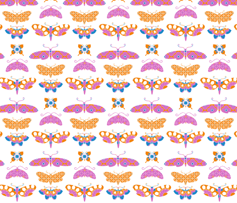 Patterned Papillons fabric by kayajoy on Spoonflower - custom fabric
