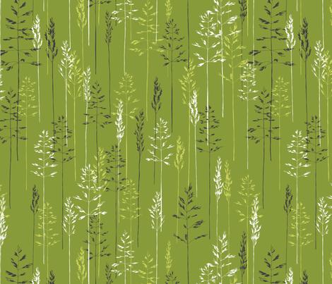 Grasses Make Me Sneeze fabric by meduzy on Spoonflower - custom fabric