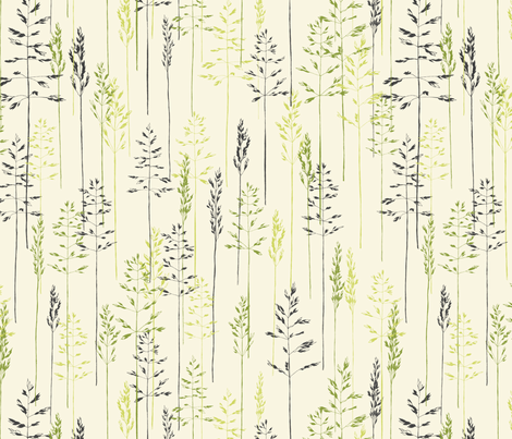 Grass in Green and Gray fabric by meduzy on Spoonflower - custom fabric