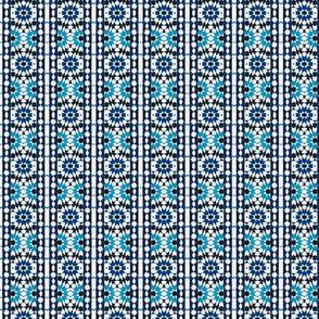 oriental mosaic batik blue-big