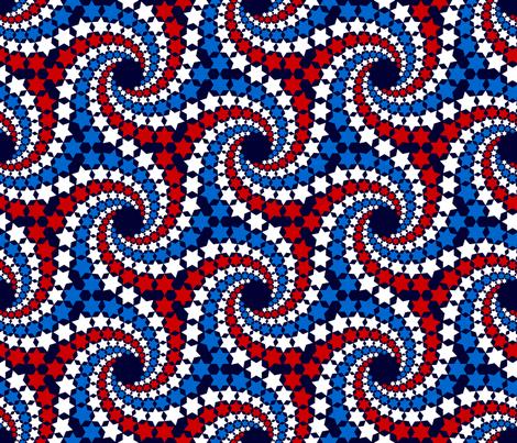 R6 V1 c12x5 - spiralling stars fabric by sef on Spoonflower - custom fabric