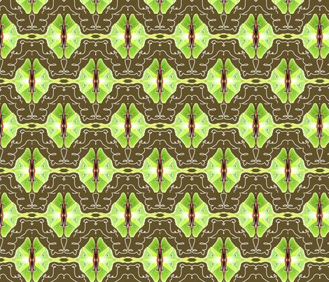 Mirrored Luna Moths fabric by robin_rice on Spoonflower - custom fabric