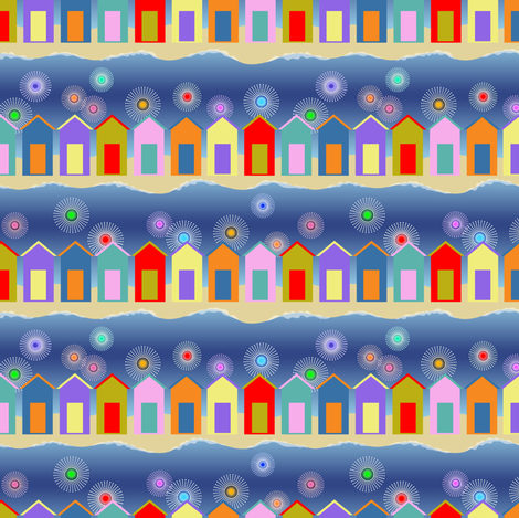 Zoom: At the shore, we celebrate! fabric by vo_aka_virginiao on Spoonflower - custom fabric