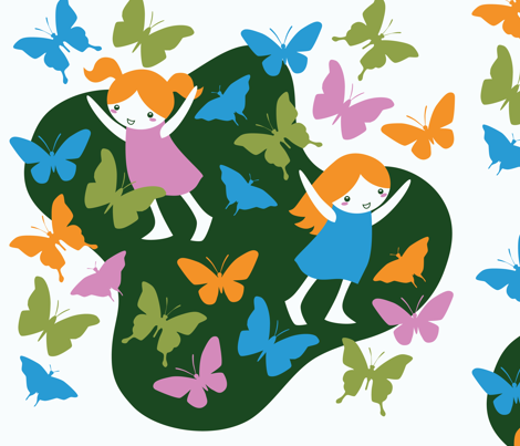 butterflies fabric by sewingstars on Spoonflower - custom fabric