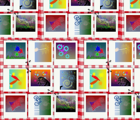 Firework memories and summer days fabric by tracydb70 on Spoonflower - custom fabric