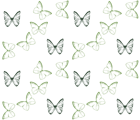 butterflyTwo2011 fabric by nikky on Spoonflower - custom fabric
