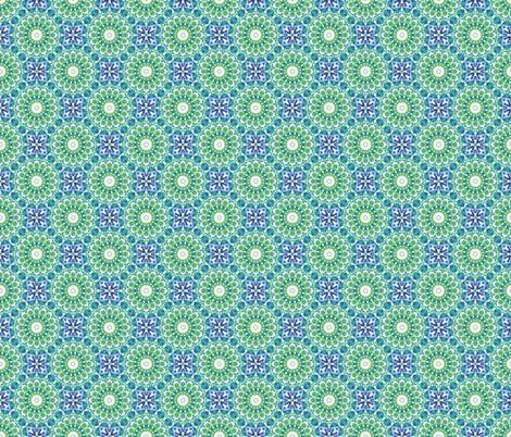Fairground Fireworks  - Green. fabric by rhondadesigns on Spoonflower - custom fabric