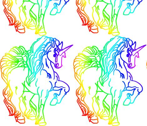 Unicorn_colour fabric by moonduster on Spoonflower - custom fabric