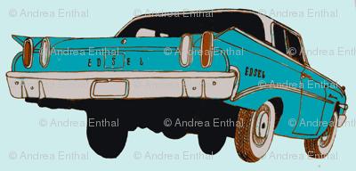 1960 Edsel Ranger 2 door sedan rear view aqua/turquoise