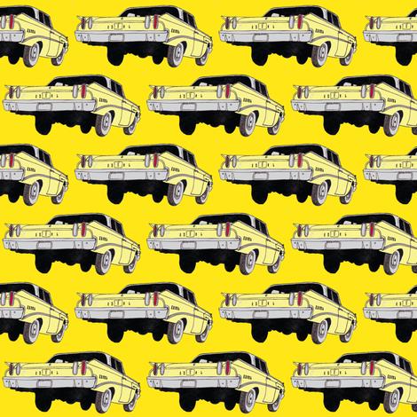 1960 Edsel Ranger Lemonade rear view fabric by edsel2084 on Spoonflower - custom fabric