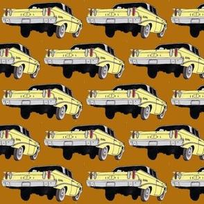 yellow 1960 Edsel Ranger on brown