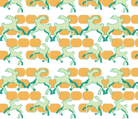 Horse Bunneh! fabric by opalnova on Spoonflower - custom fabric