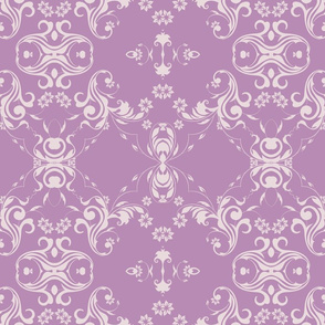 Lady Lace Purple Damask