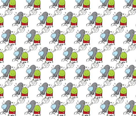 GRUMPY-MARTIAN fabric by garwooddesigns on Spoonflower - custom fabric