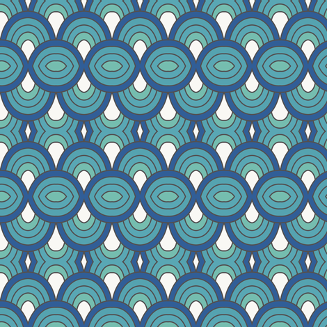 OBI blue wave fabric by obidesigns on Spoonflower - custom fabric