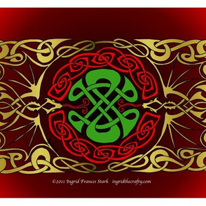celtic double dragon spike