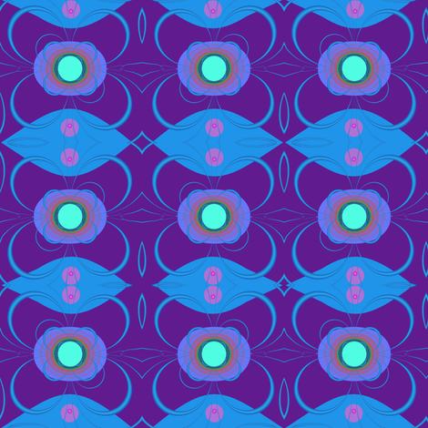 TV is Hypnotic Mirror fabric by eclectic_house on Spoonflower - custom fabric