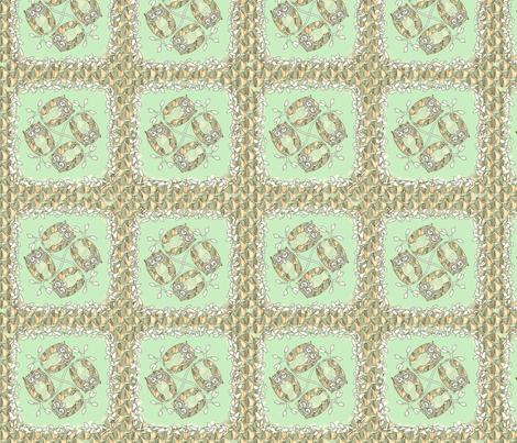 © 2011 Minty Fresh Owls fabric by glimmericks on Spoonflower - custom fabric