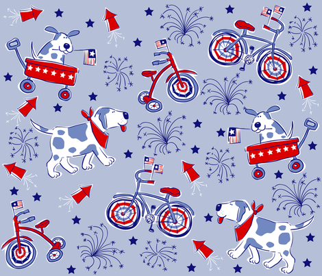 Dog Parade fabric by bzbdesigner on Spoonflower - custom fabric