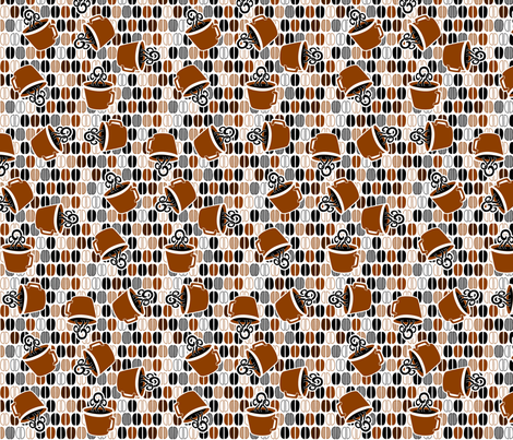 © 2011 Coffee Cafe fabric by glimmericks on Spoonflower - custom fabric