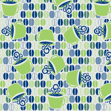 © 2011 Coffee Time- Fresh Day fabric by glimmericks on Spoonflower - custom fabric