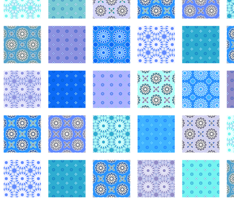 Winding Cotton Cool Blues Quilt fabric by inscribed_here on Spoonflower - custom fabric