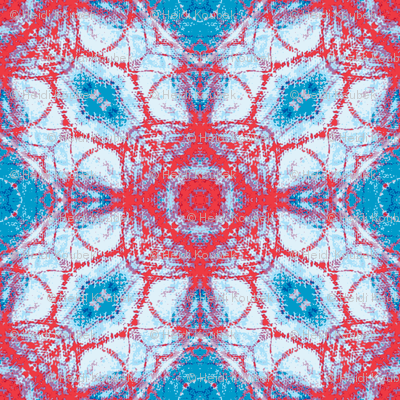 red star on blue water