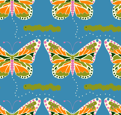 butterfly fabric by divawitch on Spoonflower - custom fabric