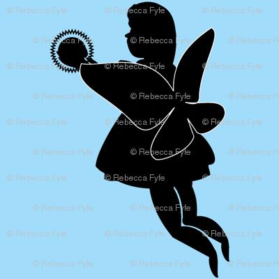 Silhouette_fairiy_with_light_globe_on_blue