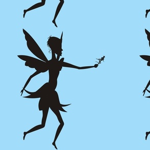 Silhouette_Fairy_with_wand_on_blue