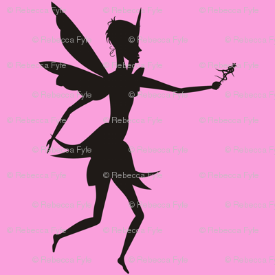 Silhouette_fairy_with_wand_on_pink
