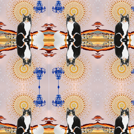 Musical Mooshi fabric by dreamskyart on Spoonflower - custom fabric