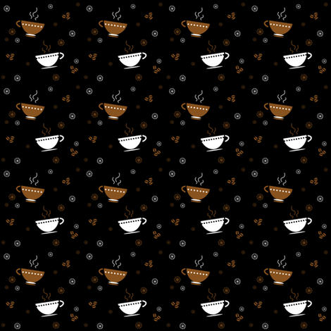 Making the grind requires A LOT of Coffee! - © PinkSodaPop 4ComputerHeaven.com  fabric by pinksodapop on Spoonflower - custom fabric