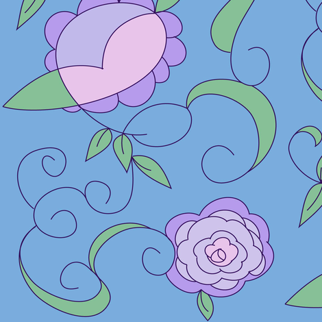Lavender and Blue fabric by countrygarden on Spoonflower - custom fabric
