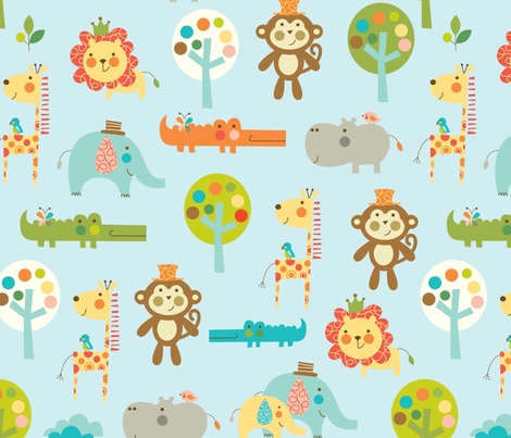 jungle love fabric by amel24 on Spoonflower - custom fabric