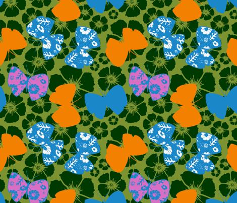 fluttery butterflies fabric by caresa on Spoonflower - custom fabric